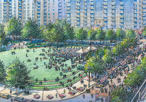 Charlotte Prepares To Open Romare Bearden Park On Labor Day Weekend