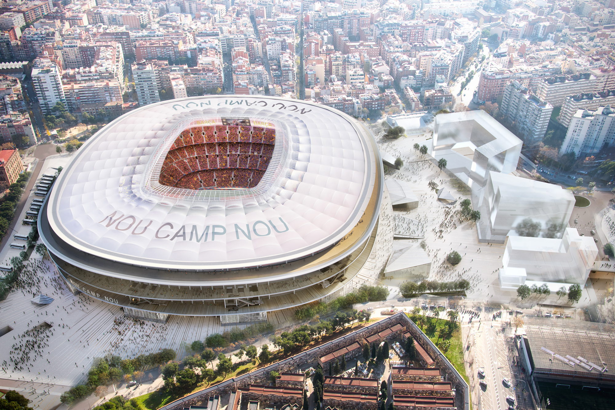 fc barcelona unveil images for new expanded camp nou stadium expanded camp nou stadium