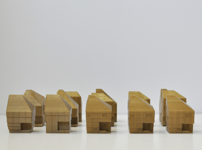 Model studies for the Starter Home* at 4514 S. Saratoga Street. (Courtesy OJT)