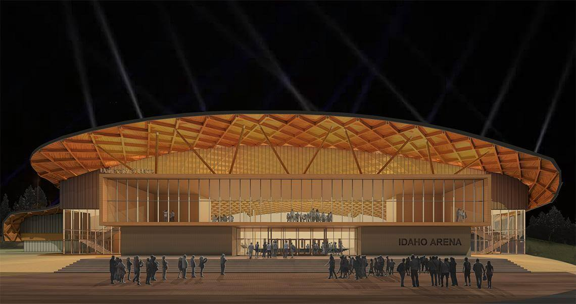 University of Idaho turns to mass timber for new basketball arena (Courtesy Opsis)