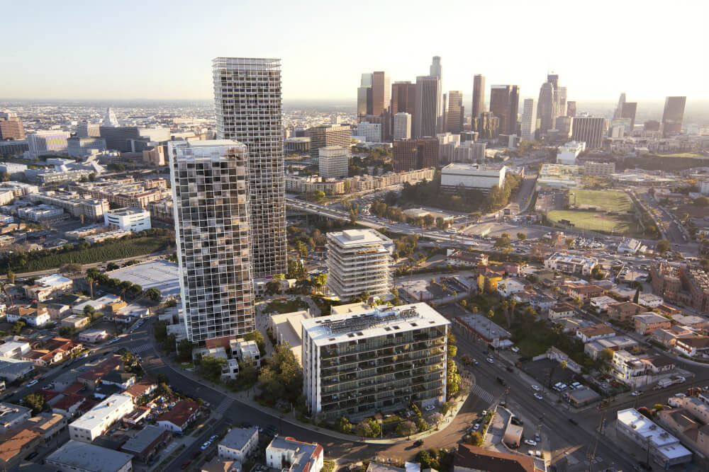 Kengo Kuma, Natoma Architects join SOM and JCFO to revitalize Pereira complex in L.A. (Courtesy SOM)