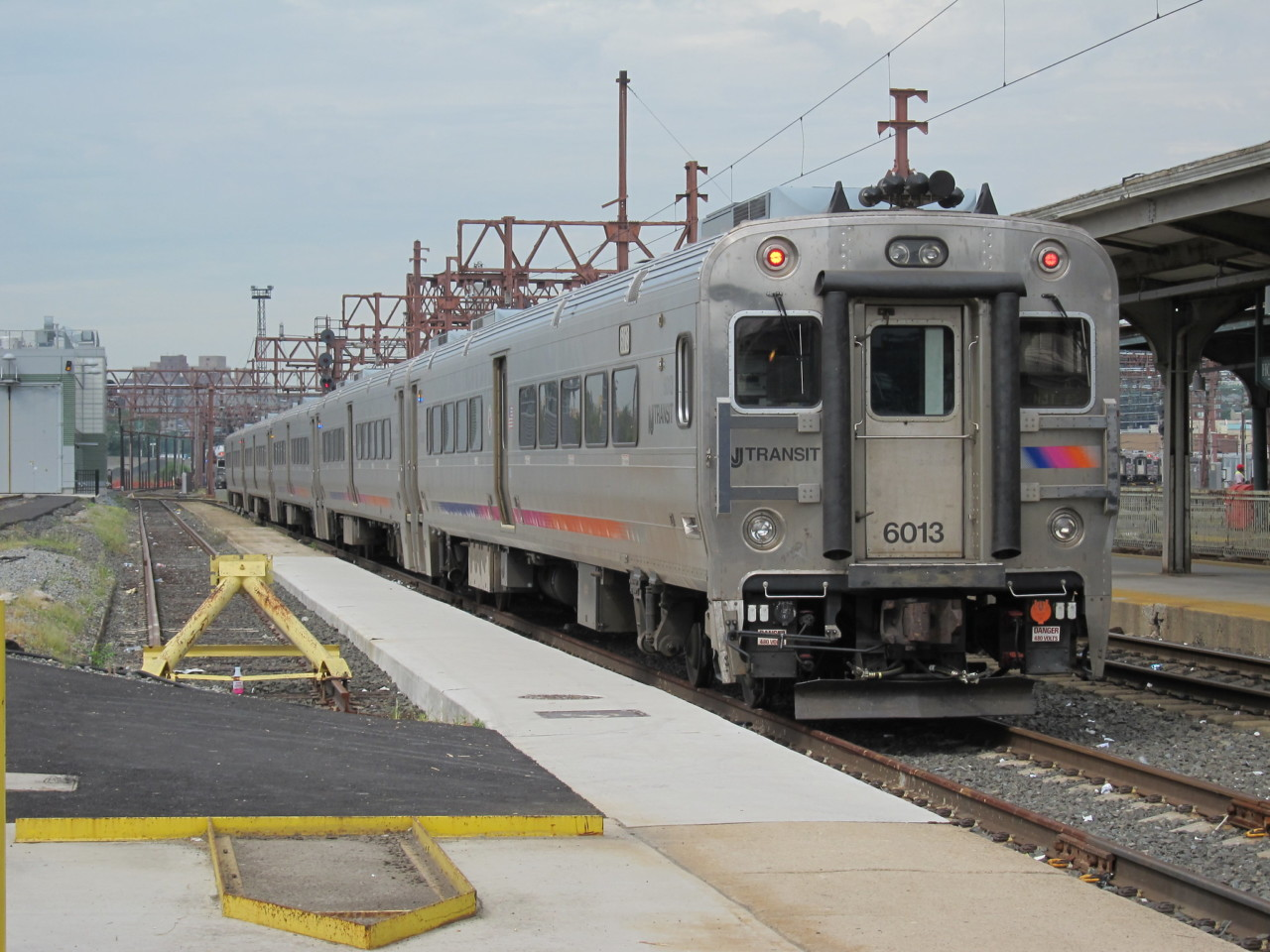 NJT train in the station