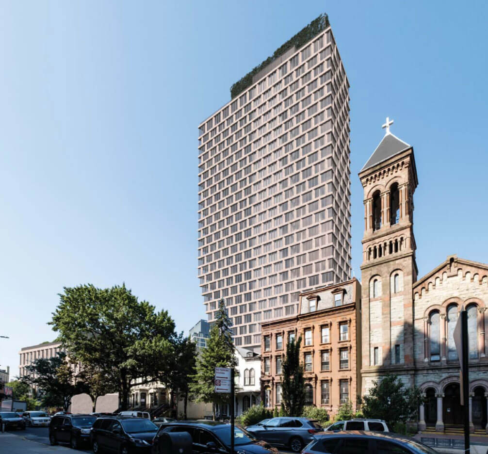 Morris Adjmi-designed tower revealed for Brooklyn's Clinton Hill