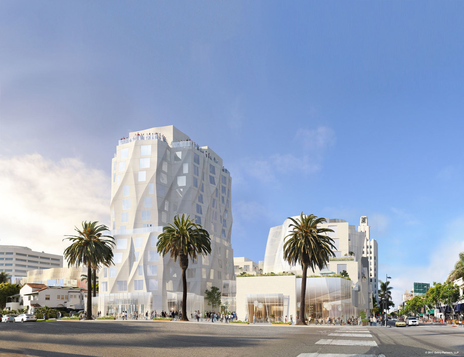 Frank Gehry halves Santa Monica hotel to meet height restrictions.