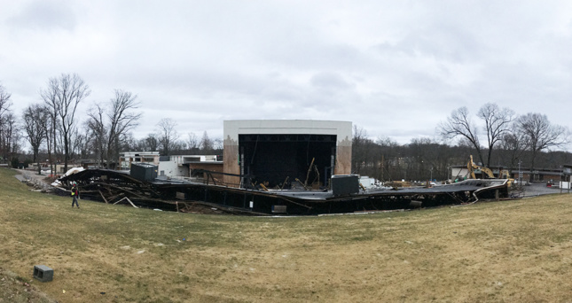 The collapsed roof of the Merriweather Post Pavilion by Gehry, Walsh and O'Malley (Ian Kennedy)