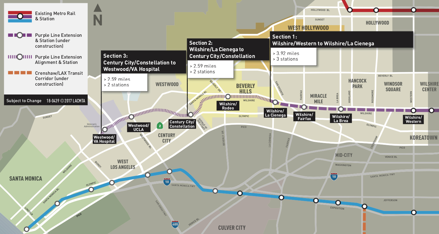 Metro in Los Angeles has broken ground on a 2.59-mile extension of the city's Purple Line subway. (Courtesy The Source)