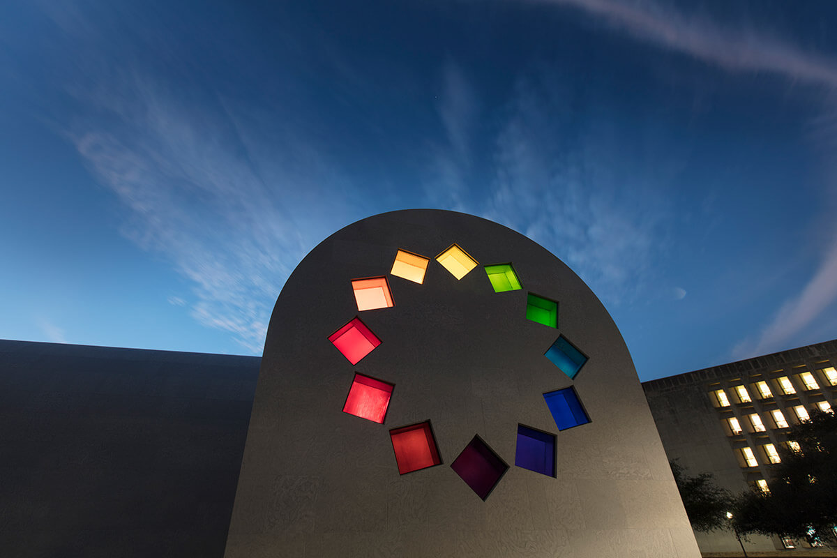 Ellsworth Kelly, Austin, 2015, west façade (Courtesy Blanton Museum of Art, The University of Texas at Austin)