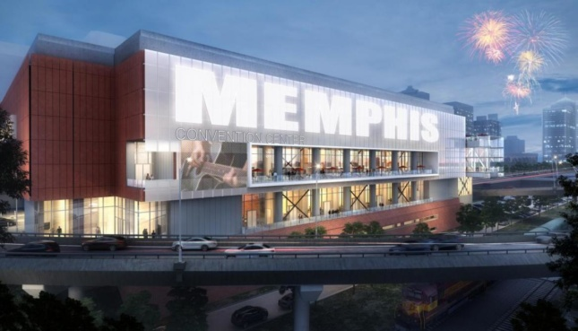 Rendering of the Cook Convention Center's new exterior. (Courtesy Looney Ricks Kiss)