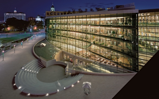 Safdie Architects' library in Salt Lake City, Utah was completed in 2003. (Image via Safdie Architects)