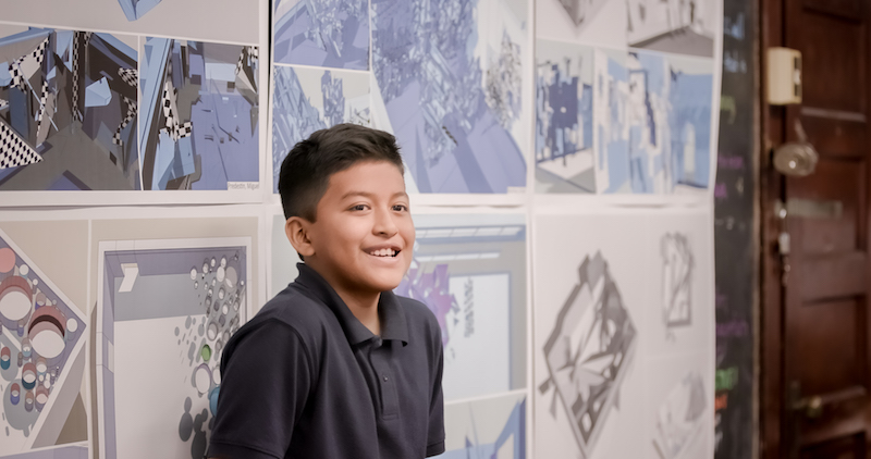 A student in Thom Mayne Young Architects program. (Courtesy Google)