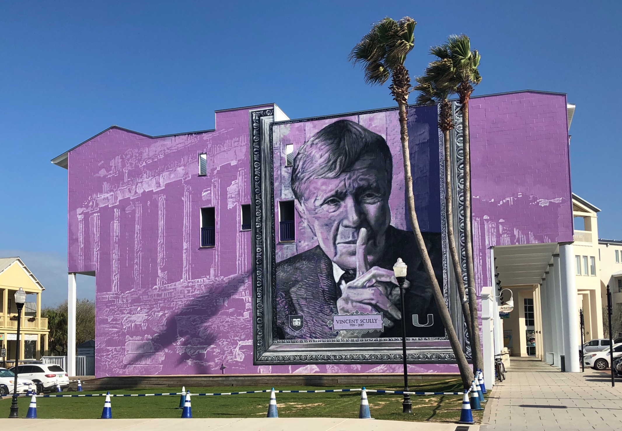Vincent Scully Mural in Seaside, Florida. (Courtesy Michael Pisacane)