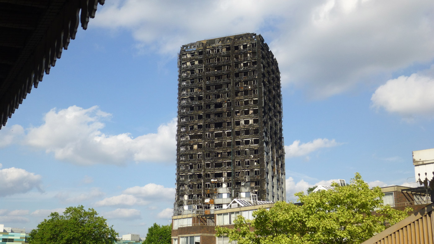 The husk of Grenfell Tower is still standing on the Lancaster West Estate, but it may not be for long. (PaulSHird/Flickr)