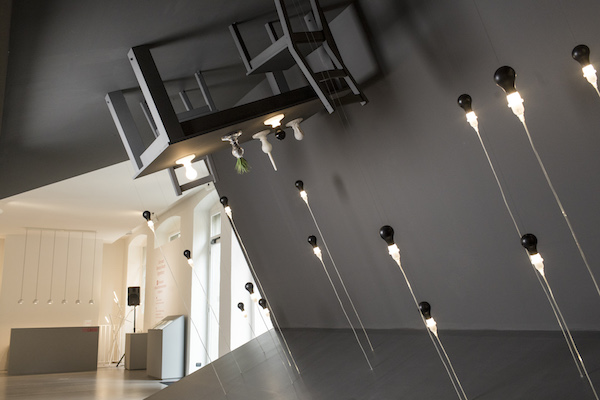 James Wines collaborated with Foscarini to challenge people's subconscious spatial expectations (Courtesy Foscarini).