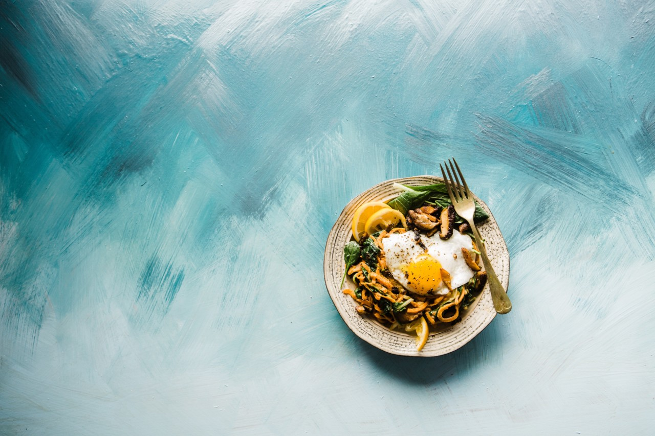 Photo of a plate of food on a table