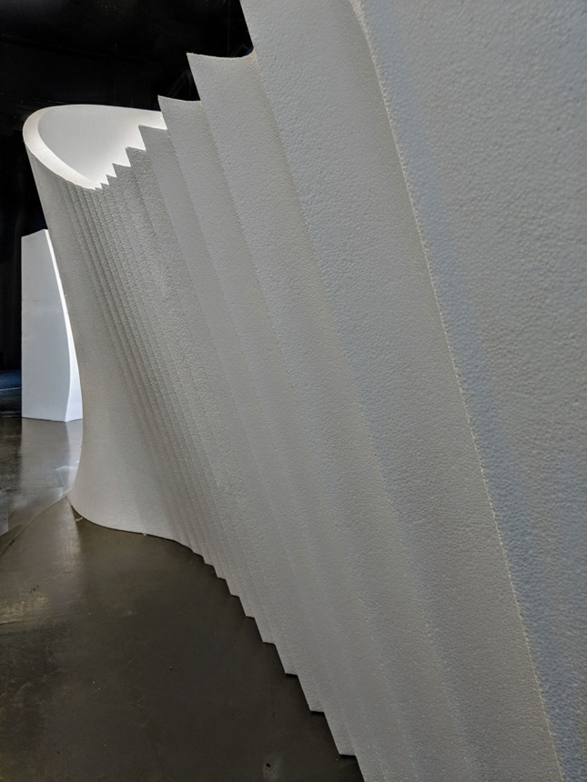 Photo of installation by Zaha Hadid Architects and ZHCODE