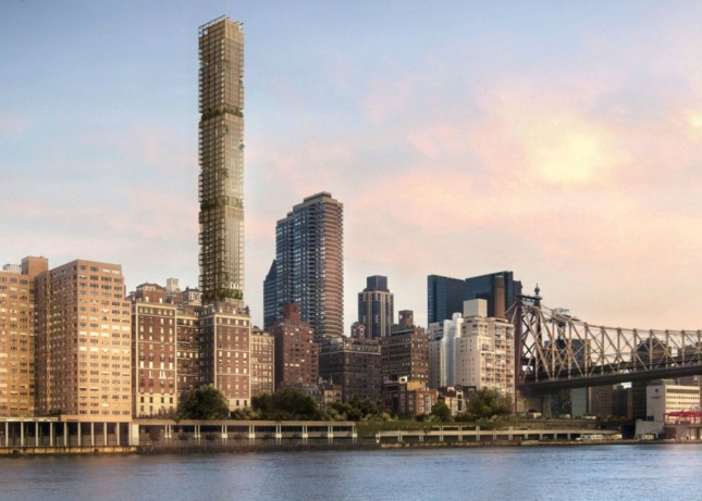 Rendering of proposed Sutton Place tower