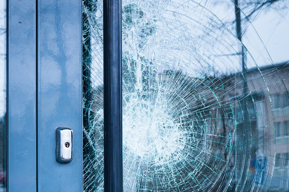 Photo of secure door glass solution