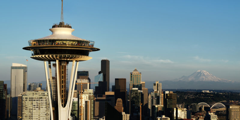 Photo of the renovated Seattle Space Needle