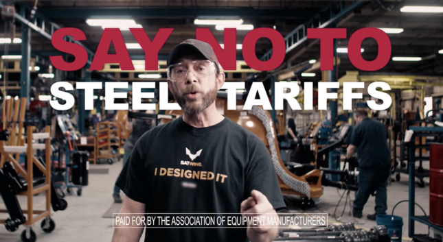 Still of ad from Association of Equipment Manufacturers