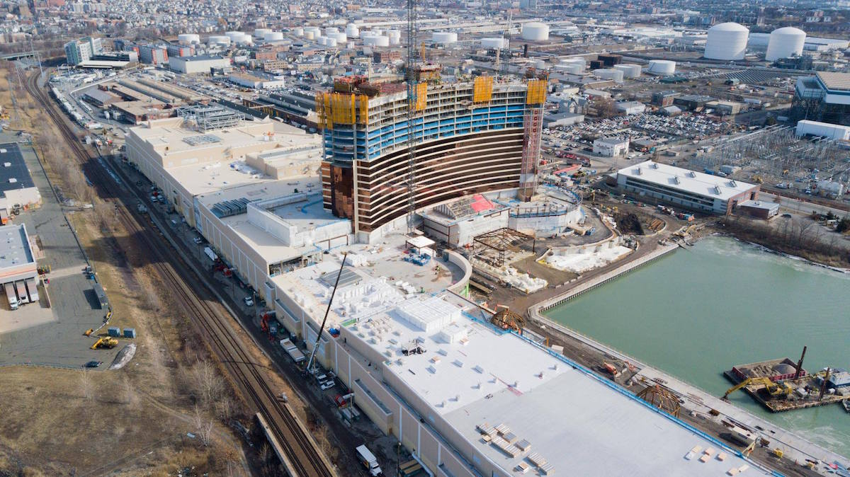 A photo of a casino construction site