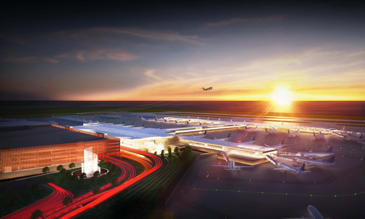 Rendering of Kansas City International Airport