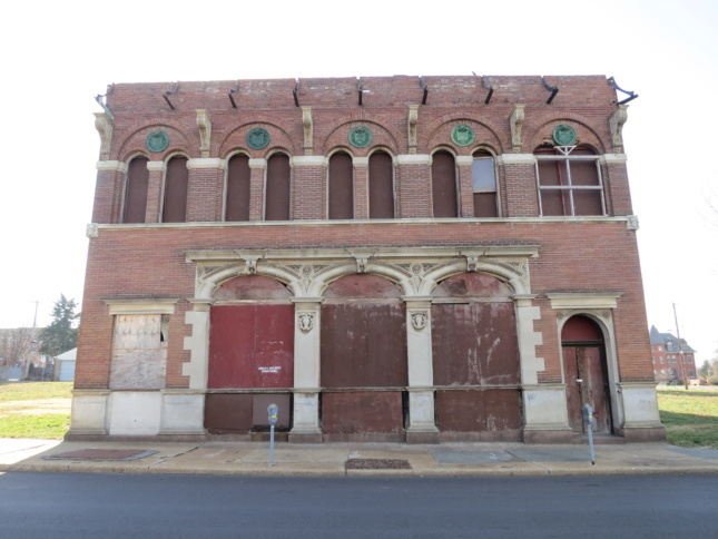 Photo of the Henry L. Wolfner Library for the Blind at 3842-46 Olive Street in St. Louis
