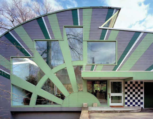 Photo: The front entrance to the Abrams House, designed by Venturi Scott Brown & Associates.