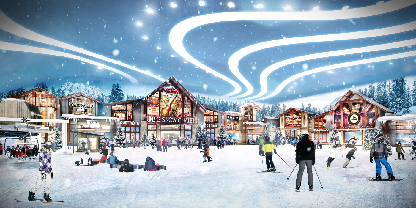 Rendering of New Jersey megamall's indoor ski slope
