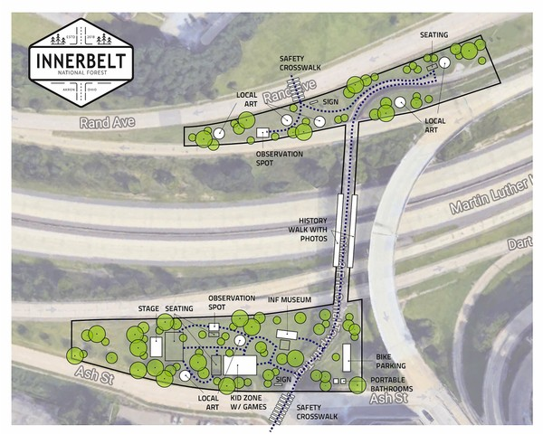Site plan of the Innerbelt National Forest