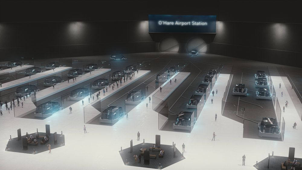 Rendering of the proposed O'Hare International Airport station