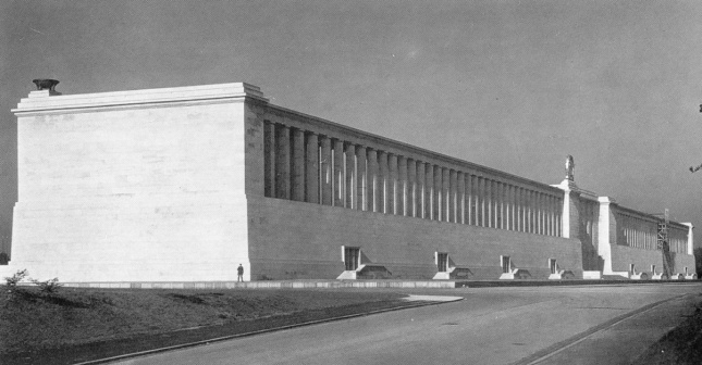The Zeppelin Tribune of the Nazi Party Rally Grounds in Nuremberg, Germany