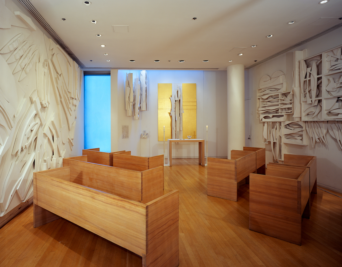 Photo of the Nevelson Chapel interior