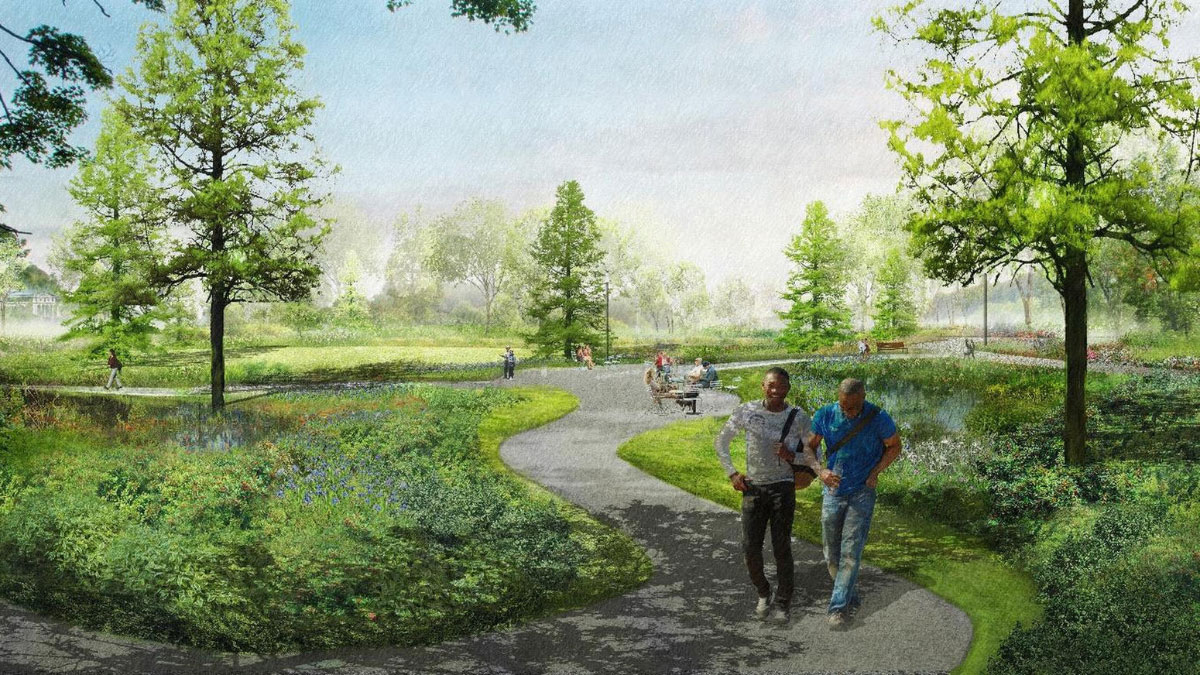 Rendering of the Obama Presidential Center campus
