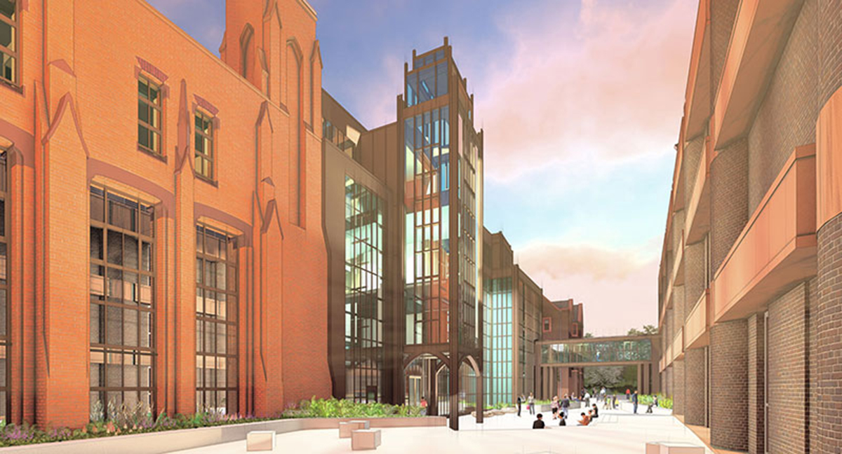 Rendering for the Peabody Museum of Natural History renovation
