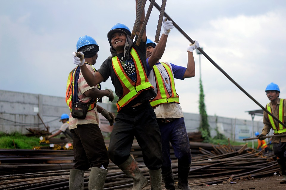 A photo of construction workers