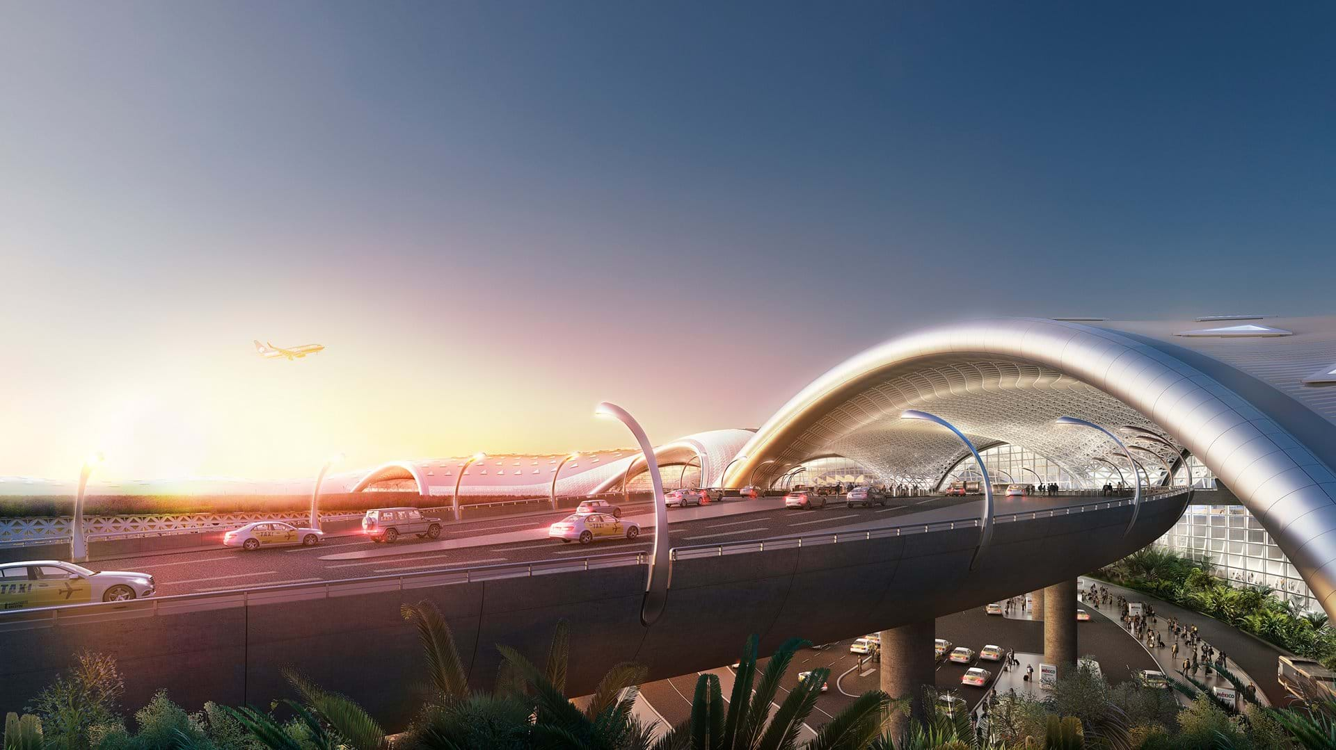Rendering of proposed Mexico City airport