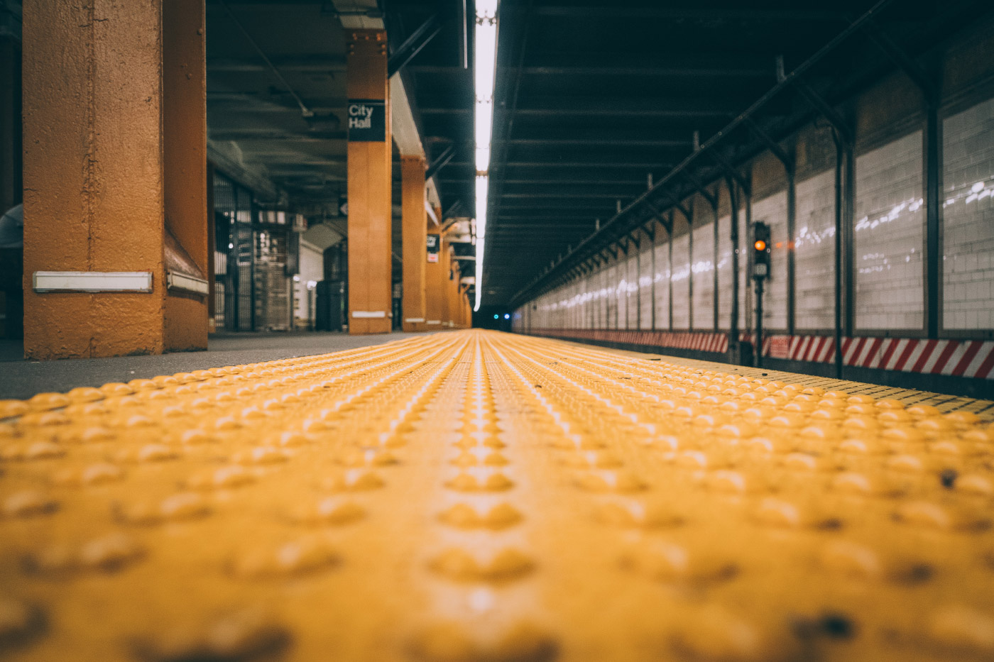 Photo of New York City subway stop