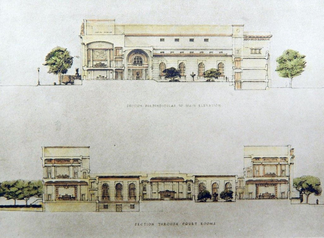 Sections for Hartford County Building