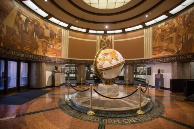 The Times' building historic lobby.