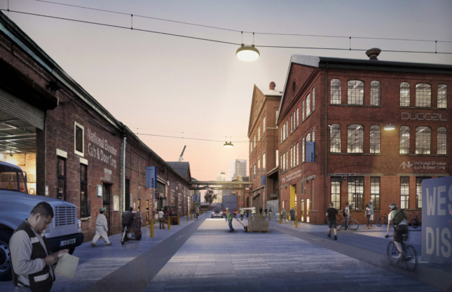Rendering of the historic core area of the Brooklyn Navy Yard