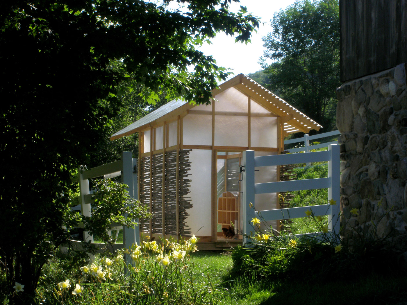 The 2011 studio's Chicken Chapel, a fiberglass-wrapped chicken coop.