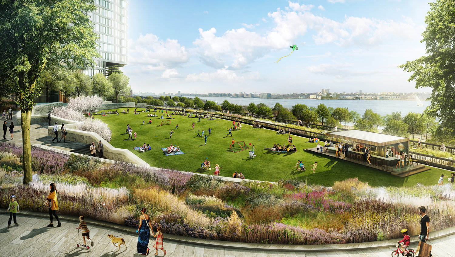 Rendering by Design Distill of Hudson Yards park