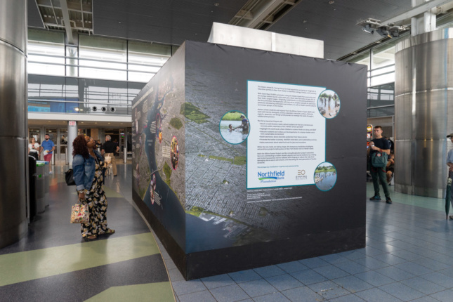 Living Breakwaters exhibit at the Staten Island Ferry Terminal