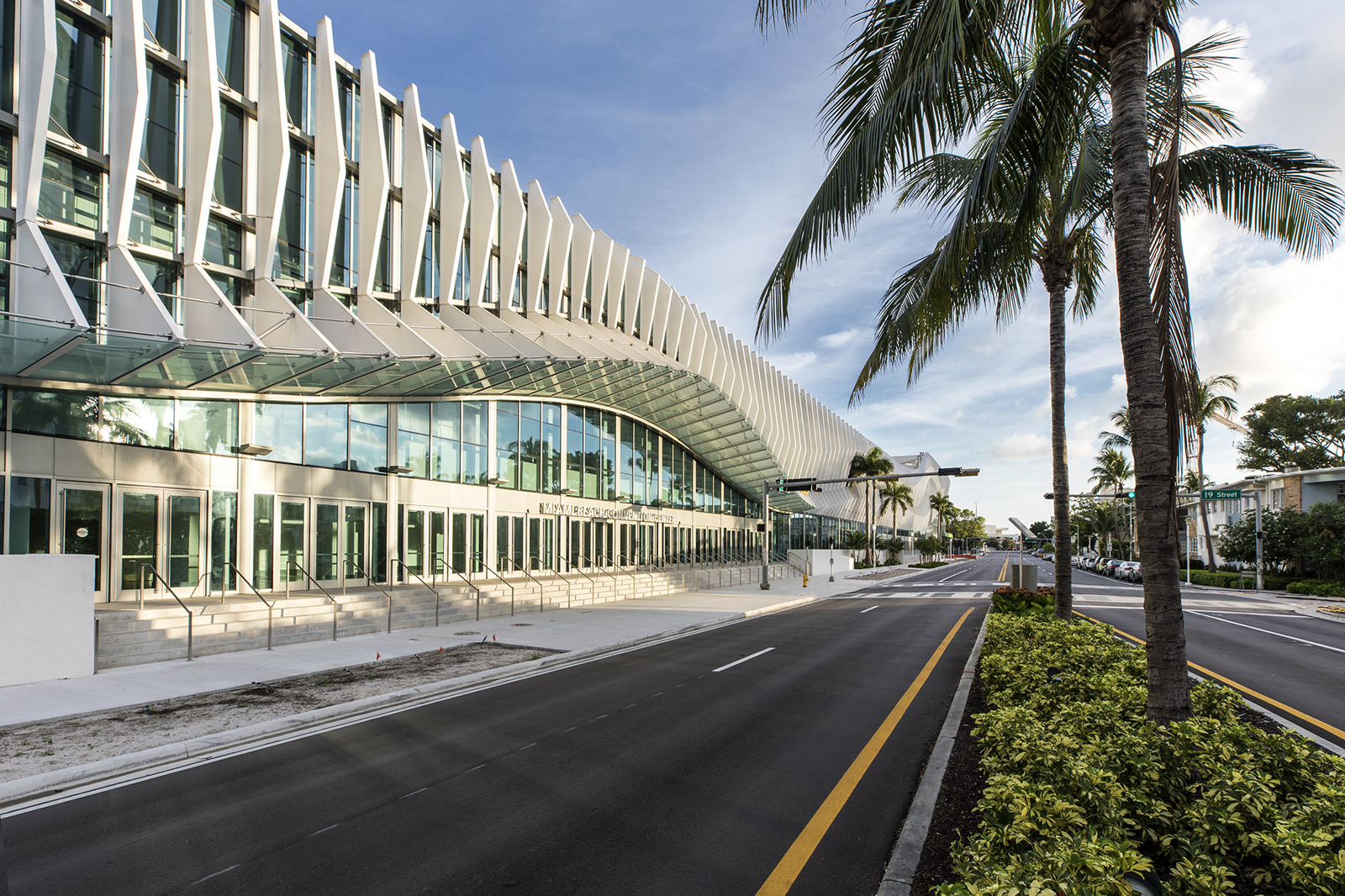 Miami Beach Convention Center's aluminum finned facade