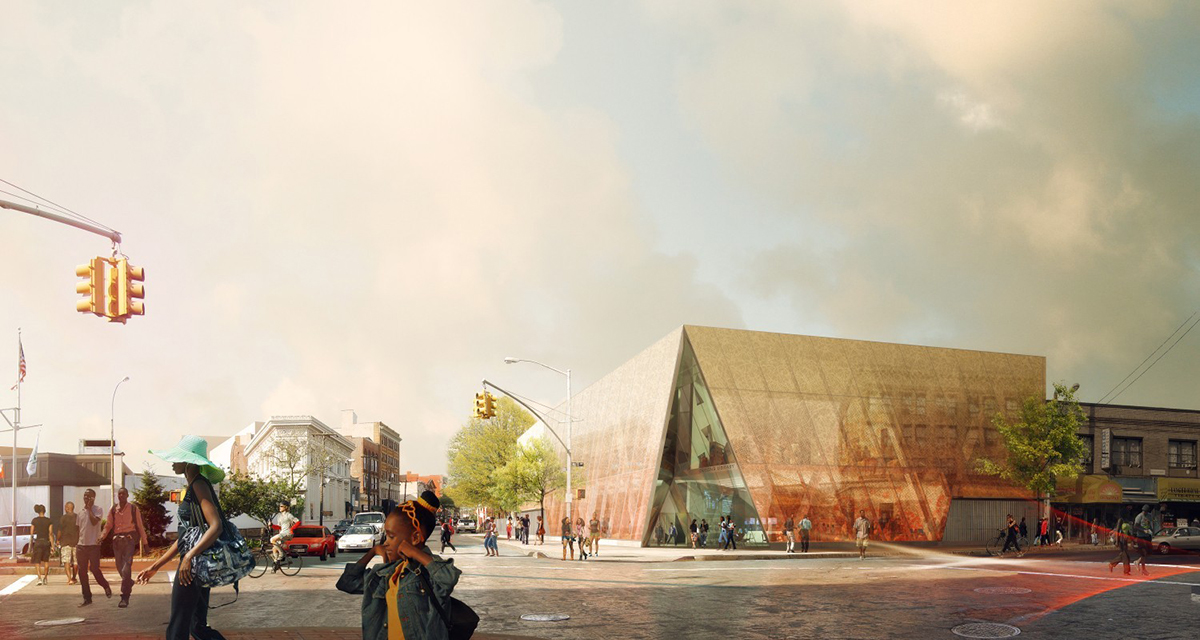 Rendering of Snøhetta's Far Rockaway Library