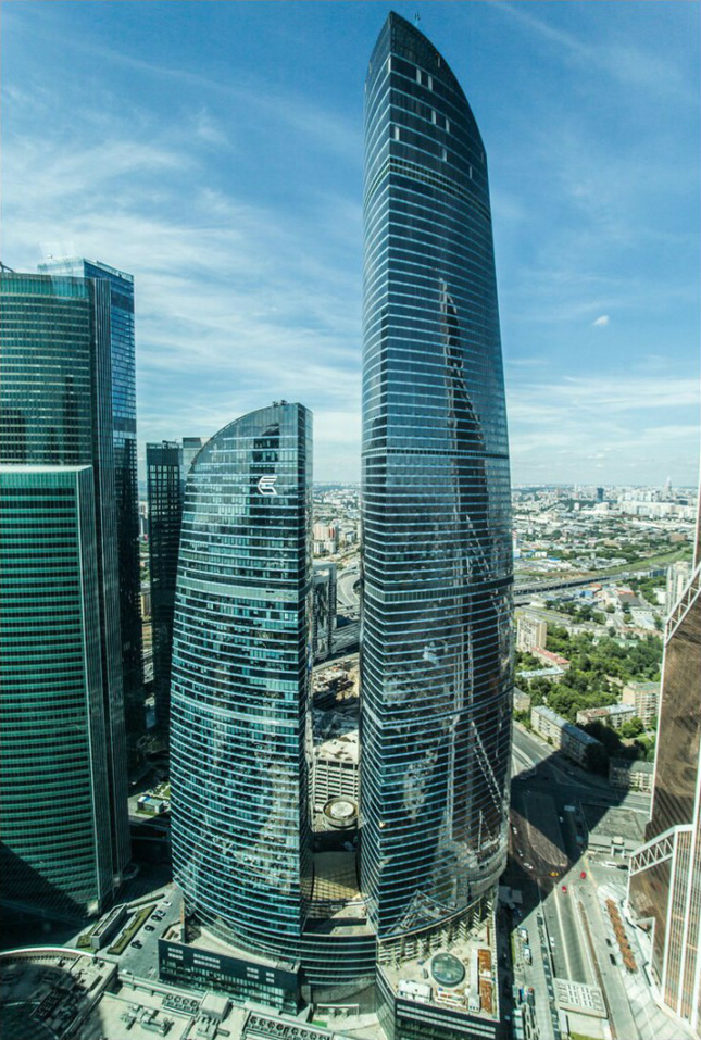 Federation Tower complex in Moscow