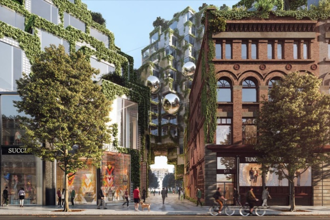 Rendering of BIG's King Street West development