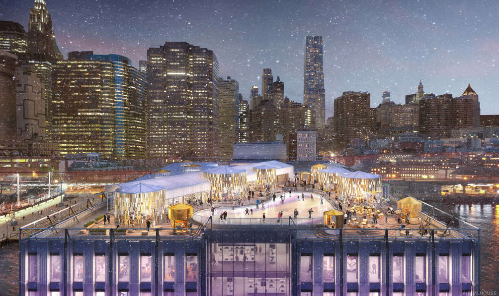 Rendering of Pier 17 rooftop by Visualhouse