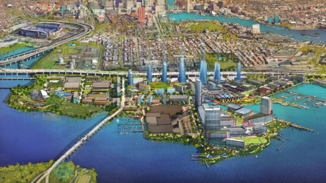 Aerial Rendering of Port Covington