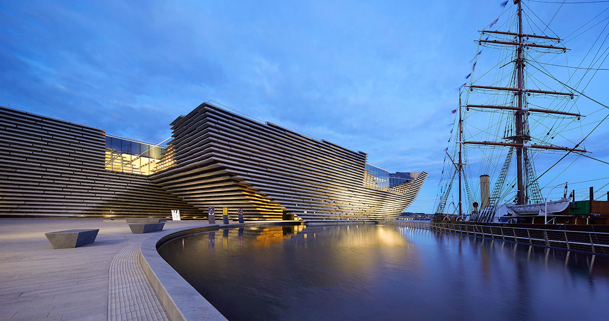 Kengo Kuma's Victoria and Albert Design Museum in Dundee, Scotland